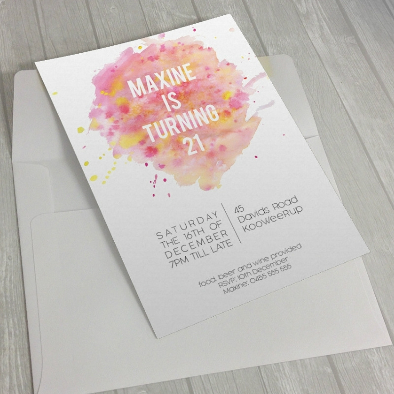 21st invitation maxine - graphic designer melbourne