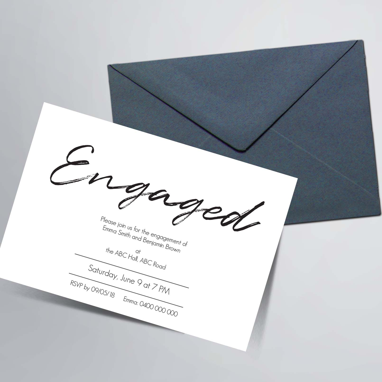 Engagement Party Invitations - graphic designer melbourne