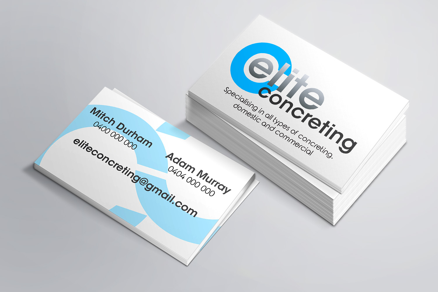 Elite Concreting Business Cards